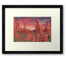 Madonna & Child with Two Nuns Red Rocks in Sedona Framed Print