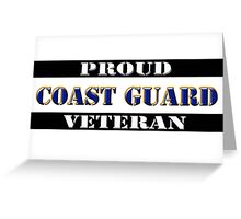 Proud Coast Guard Veteran Greeting Card