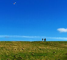 Flying a Kite by DeePhoto