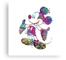 Mickey Mouse Disney Watercolor Canvas Print