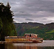 Boat Wreck On  Loch Ness, Scotland. by Aj Finan