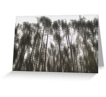 Etching Away Trees Greeting Card