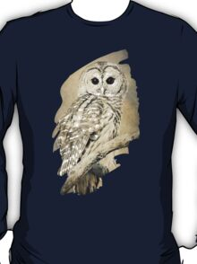 Barred Owl Bw Sepia T-Shirt