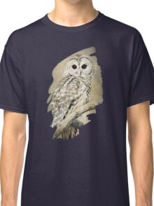 Barred Owl Bw Sepia Art Classic T-Shirt