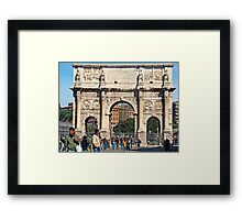 Arch Of Constantine, Rome, Italy  Framed Print
