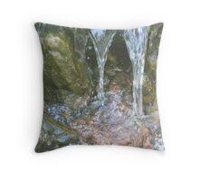 Spilling over Rocks Throw Pillow