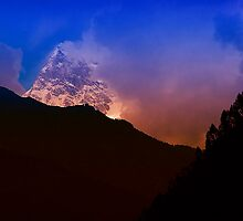 The Himalaya Peak At Sunrise by Mukesh Srivastava