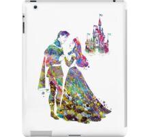 Sleeping Beauty Princess Aurora and Prince Phillip Love Watercolor iPad Case/Skin