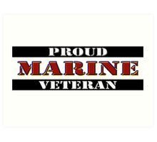 Proud Marine Veteran Art Print