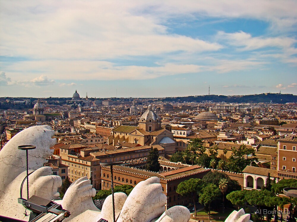 Rome Overview, Italy by Al Bourassa