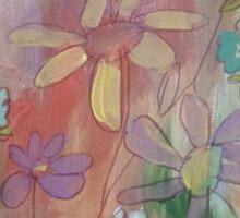 Colorful Daises (Modern) Sticker