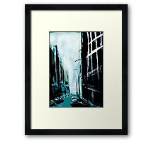 Blue Foggy City Framed Print