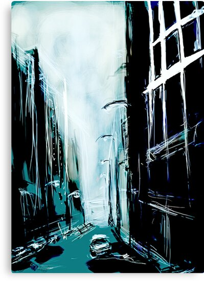 Blue Foggy City by Anwuli Chukwurah