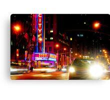 Radio City Lights Canvas Print
