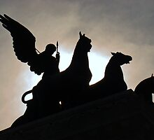 The Quadrigas, Monument to Vittorio Emanuele II, Rome, Italy by Al Bourassa