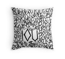 IOU Throw Pillow