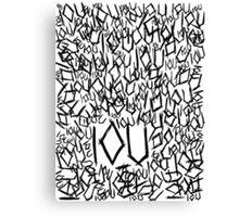 IOU Canvas Print