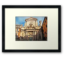 Ancient Roman Church Framed Print