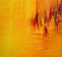 Orange Acrylic on Canvas by ClaireBull