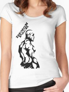 Demon Pack Tribal Muscle  Women's Fitted Scoop T-Shirt