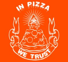 In Pizza We Trust - Black and White Version Kids Clothes
