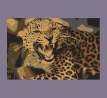 Wild leopard in 7 colors Kids Tee