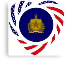 Vermont Murican Patriot Flag Series 2.0 Canvas Print