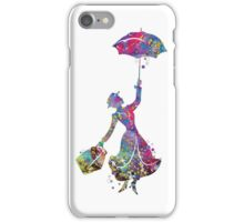 Mary Poppins Silhouette Watercolor iPhone Case/Skin