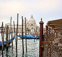 The Basilica di Santa Maria della Salute from Harry''s Bar by Ann Garrett