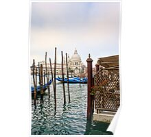 The Basilica di Santa Maria della Salute from Harry''s Bar Poster