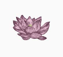 Light Pink Lotus Flower Pen Drawing T-Shirt