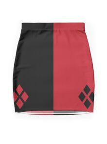 Red and Black Diamonds  Mini Skirt