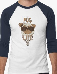 Pug Life Men's Baseball ¾ T-Shirt