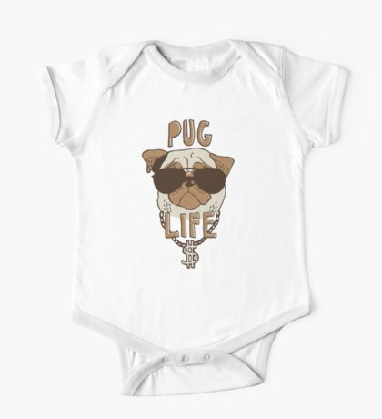 Pug Life One Piece - Short Sleeve
