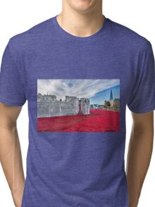 Poppies at The Tower Of London Tri-blend T-Shirt