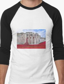Poppies at The Tower Of London Men's Baseball ¾ T-Shirt