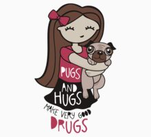 Pugs and Hugs One Piece - Short Sleeve