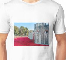 Cascading Poppies, Tower of London Unisex T-Shirt