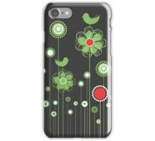 Whimsical Garden Birds and Flowers iPhone Case/Skin