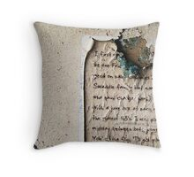 Ripped Letter Throw Pillow