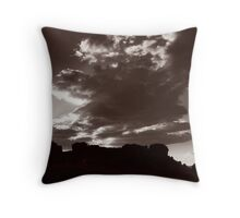 Moorland sunset Throw Pillow