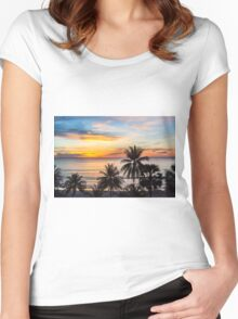 Sunset in Paradise Women's Fitted Scoop T-Shirt