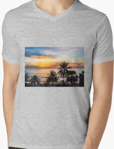 Sunset in Paradise Mens V-Neck T-Shirt