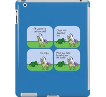 All Water Is Dinosaur Pee And Definitely Not Unicorn Pee iPad Case/Skin
