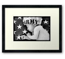 Army Baby Framed Print