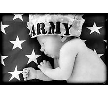 Army Baby Photographic Print