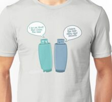 Shampoo vs. Conditioner Unisex T-Shirt