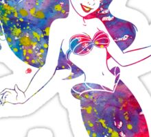 Little Mermaid Ariel Disney Princess Watercolor Sticker