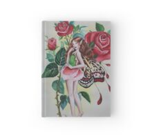 Red rose fairy tote bag Hardcover Journal