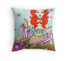 Mary quite contrary... Throw Pillow